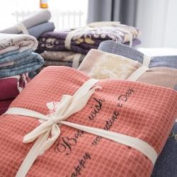 (总)多规格 秋冬全棉加厚磨毛单件良品风床笠被套床单四件套