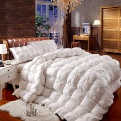 全棉柔赛丝扭花面包羽绒被鹅绒被冬被春秋被芯有同款枕芯赠送包装