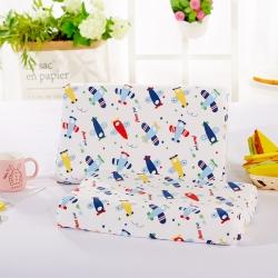 萌番寶 兒童乳膠枕44*27*6學生兒童卡通全棉枕套乳膠枕
