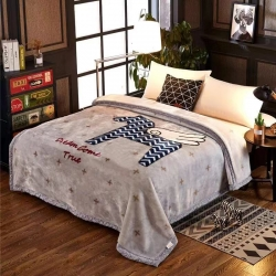 (总)凤凰林毛毯双层超细柔拉舍尔毛毯4斤-12斤全规格尺寸