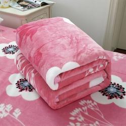 加厚云貂绒毛毯 双面绒毯子车用旅行法莱绒毛毯 枕套 床单盖毯