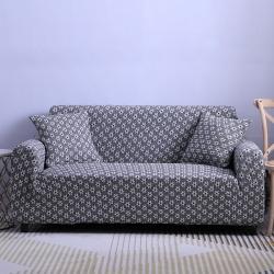 2019新款3D针织沙发套全包万能套通用型弹力罩加厚浅黑