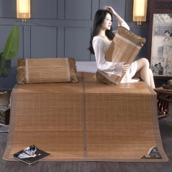 总 竹席 安芬家纺双面折叠竹席双人0.9m1.8米凉席竹席