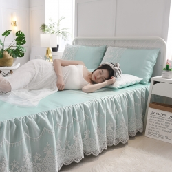 (總)首爾爆款床裙款冰絲軟席空調席涼席純色