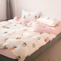 簡宜家居 2019全棉純棉四件套床上用品三件套床單被套小清新