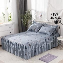 【總】三友家紡 蘆薈棉雙邊床裙 床罩