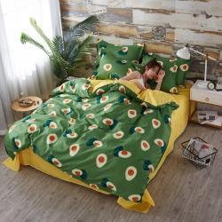 (總)曼璐家紡2019新款85g蘆薈棉四件套被套床單床上用品