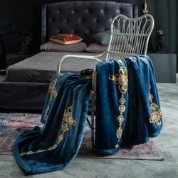 (總)慕莎輕奢法萊絨毛毯高克重牛奶絨毛毯大牌風潮牌北歐風毛毯