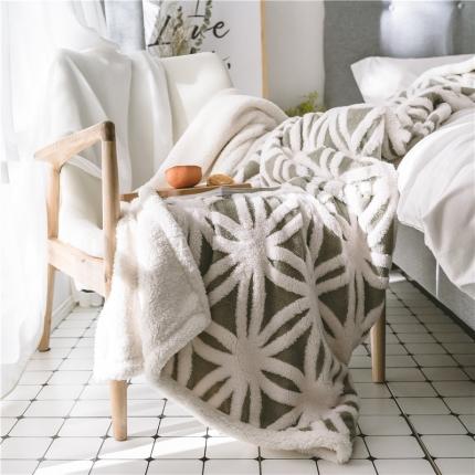 2021新款提花舒棉绒毛毯空调毯双层加厚羊羔绒毯
