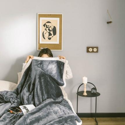 2021升级羊羔绒被套款毛毯子加厚保暖双层法兰绒被子冬季盖毯