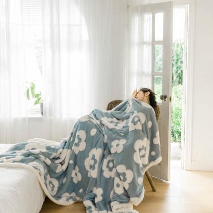 (总)卜古 2021新款提花舒棉绒毛毯空调毯双层加厚羊羔绒毯