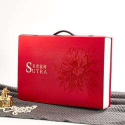 名贵寝饰红铝箔提手礼盒