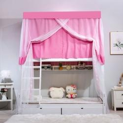 落地雙人床上鋪兒童子母蚊帳加固蒙古包連體0.9/1.2m