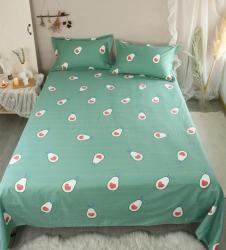 蜜朵 升級版柔軟細紗純棉老粗布床單三件套