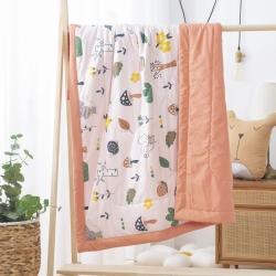 御棉坊 水洗棉儿童夏被 幼儿园被子夏凉被空调被 萌鼠森林-桔