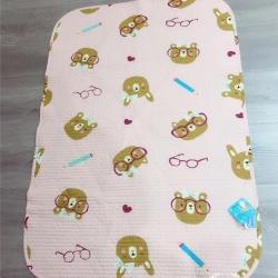 风行家纺 婴儿水洗密垫70*100 小熊粉