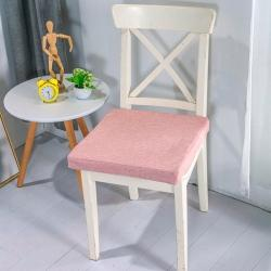 U品匯2020北歐現代辦公室椅學生凳椅墊海綿坐墊棉麻素色肉粉