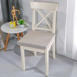 U品匯2020北歐現代辦公室椅學生凳椅墊海綿坐墊棉麻素色淺灰