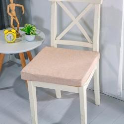 U品匯2020北歐現代辦公室椅學生凳椅墊海綿坐墊棉麻素色米黃