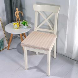 U品匯2020北歐現代辦公室椅學生凳椅墊海綿坐墊棉麻提花米黃