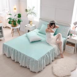 (总)首尔 2020新款床裙款冰丝席三件套