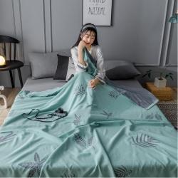 (總)樸爾 2020年新款雙層全棉紗布毛巾被