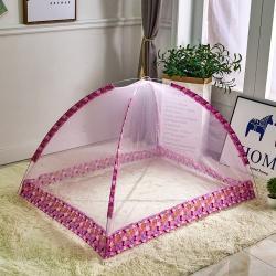 拿卡家纺 2020新款儿童蚊帐免安装款 粉色80*120cm