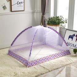 拿卡家纺 2020新款儿童蚊帐免安装款 紫色80*120cm