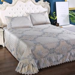 麦蕾迪 2020新款绗绣提花席床盖款三件套 华贵