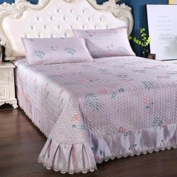 麦蕾迪 2020新款绗绣提花席床盖款三件套 樱桃