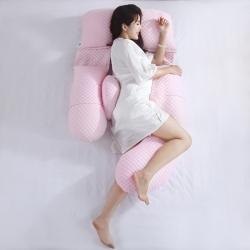 沃耀 2020新款孕产品孕妇枕气泡针织棉系列 粉色