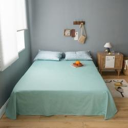 轻奢坊 2020新款全棉ins风格子单床单 浅绿