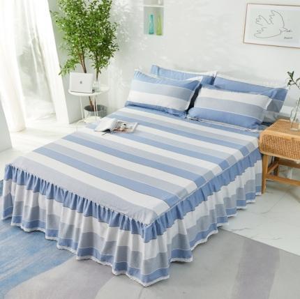 (总)爱妮玖玖 2020新款单品床罩类6-1:小白边单层床裙