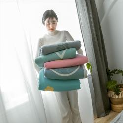 (總)樸爾2020新款時尚六層全棉紗布蓋毯夏季毛巾被