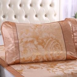 泰康席業 2020新款冰絲枕套 冰絲枕套-金色