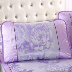 泰康席業 2020新款冰絲枕套 冰絲枕套-紫色