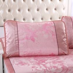 泰康席業 2020新款冰絲枕套 冰絲枕套-粉色