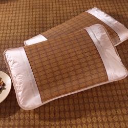 泰康席業 2020新款冰絲枕套 藤席枕套-咖色