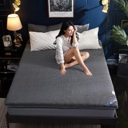 吉歐力 2020新款針織單邊乳膠記憶海綿床墊 直線-灰