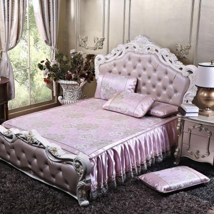 罗意 2020新款欧式床裙款凉席 欧式盛世巴黎-粉