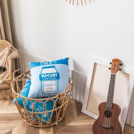 暖树家居 2020款双面数码印花超柔磨毛系列抱枕被 乳酸菌