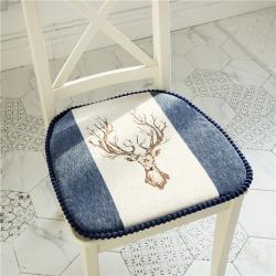 哈創家居 2020新款椅墊坐墊單只 一路有人-藏藍色