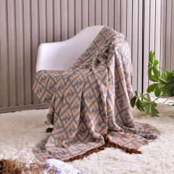 【總】沐錦家紡 流蘇竹纖維四層紗布毯 竹纖維毯