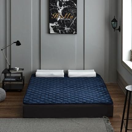 【总】沐锦家纺(550g加厚)法莱绒夹棉软床垫 垫子