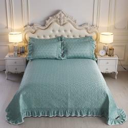 舒一 2020新款水洗真丝凉席床盖三件套 薄荷色
