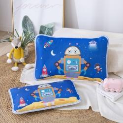 吉咪兔 2020大版卡通冰絲涼席枕套機器人
