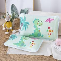 吉咪兔 2020大版卡通冰絲涼席枕套恐龍寶貝