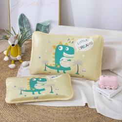 吉咪兔 2020大版卡通冰絲涼席枕套小恐龍