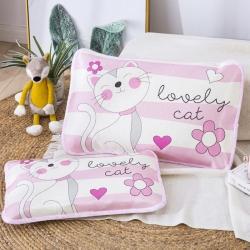 吉咪兔 2020大版卡通冰絲涼席枕套小貓咪