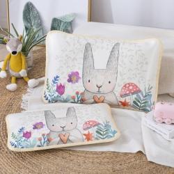 吉咪兔 2020大版卡通冰絲涼席枕套小兔子